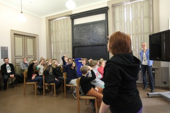 Finnish students participating in 'Gaia Live in Schools' event