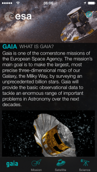 Screenshot of Gaia App