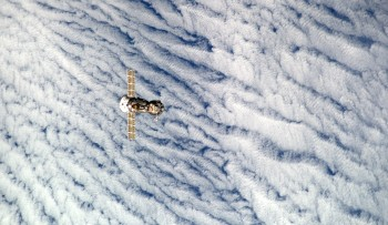 Soyuz TMA-12M seen from International Space Station. Credits: ESA/NASA