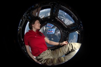 Samantha on her 200th day in space. Credits: ESA/NASA