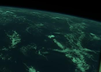 Thunderstorm over Cuba. Credits: ESA/DTU Space