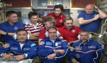 Full house on the International Space Station.