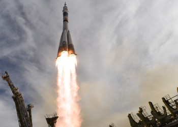 Soyuz TMA-18M liftoff. Credits: ESA