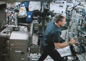 ESA astronaut Andreas Mogensen working on Mares on flight day 8. Credits: ESA/Col-CC cam