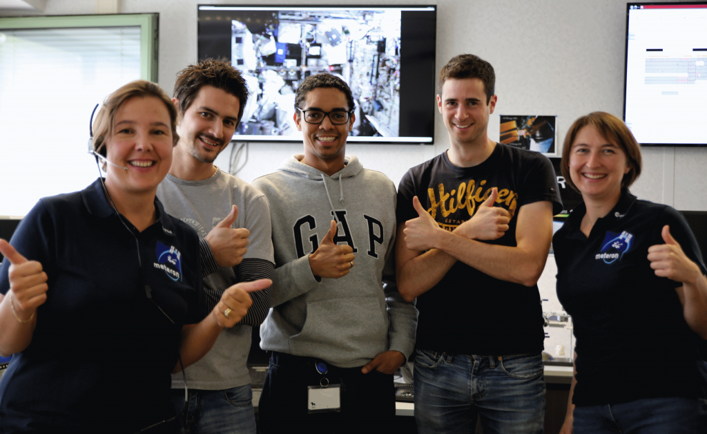 METERON team at B.USOC after Supvis-E activites. From left to right: Saliha, Claudio, Dirk , Koen , Carla.