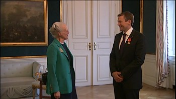 Andreas with Her Majesty the Queen of Denmark