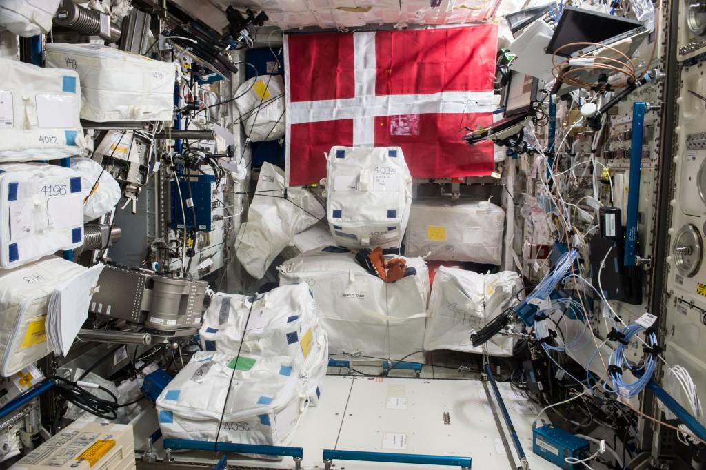 Columbus space laboratory before Mares. Credits: ESA/NASA