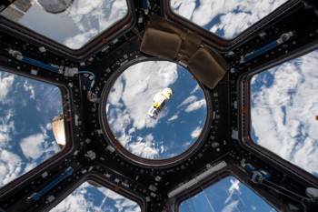 LEGO astronaut flying in space. Credits: ESA/NASA