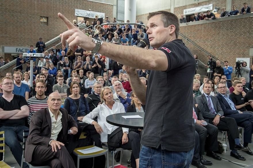 ESA astronaut Andreas Mogensen at cubesat launch in Denmark. Credits: Lars Pauli