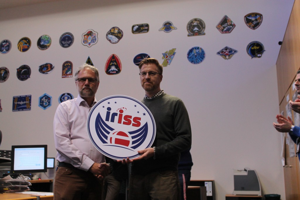 The honours were handed to the EPIC planning team lead.  Credits: ESA–J. Harrod CC BY SA IGO 3.0