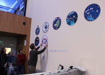 iriss logo on the wall. Credits: ESA–J. Harrod CC BY SA IGO 3.0