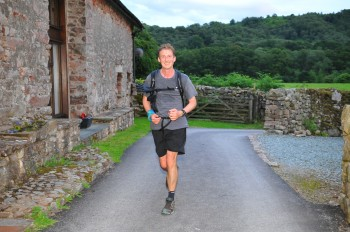 Robert Cullen, practicing for the Spine Race. Image credit: R. Cullen.