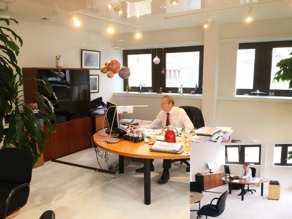ESA DG Jan Woerner in his office, one year later, July 2016. Image credit: ESA - T. Weissenberg.