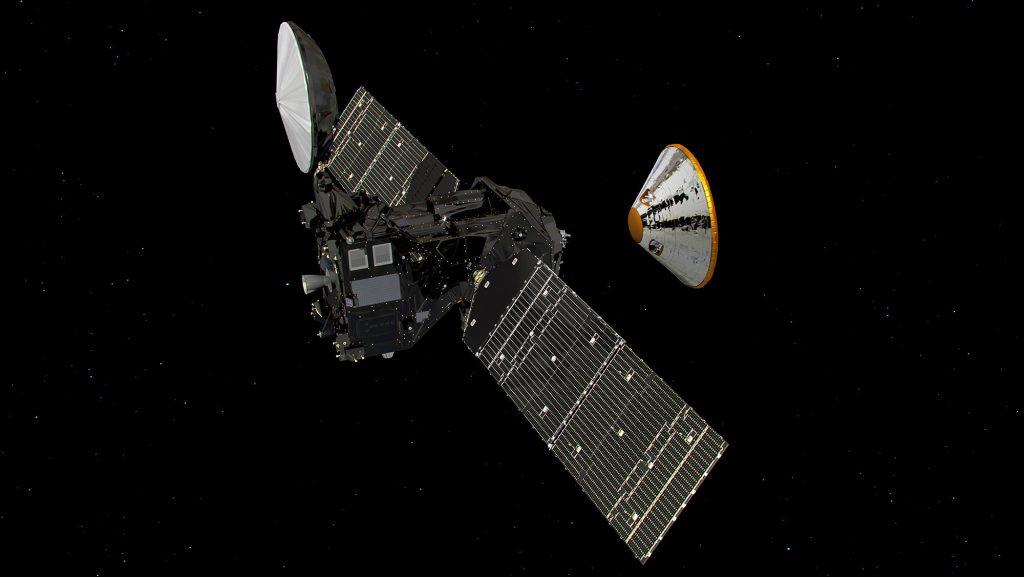 ExoMars 2016 separation. Credit: ESA.