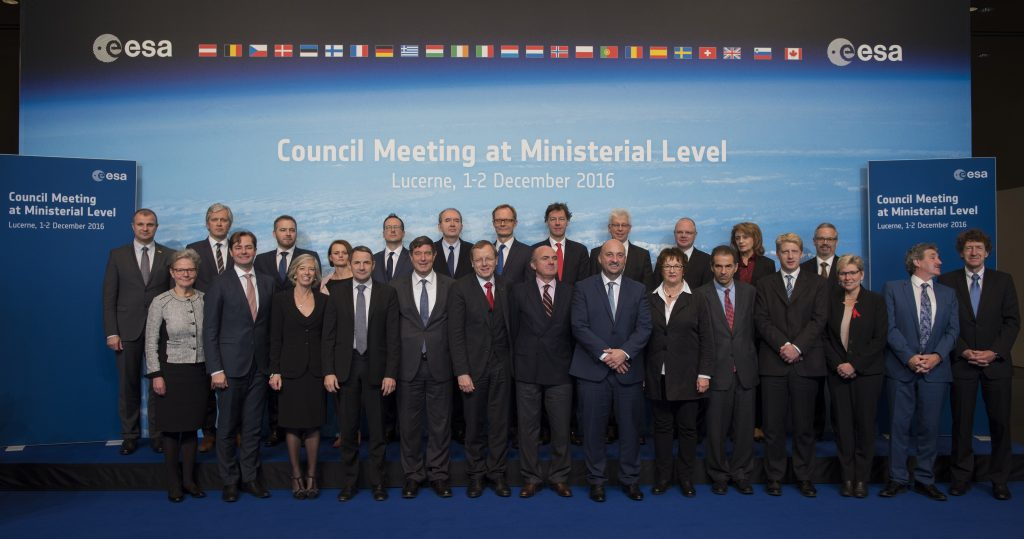 ESA Council at ministerial level in Lucerne, Switzerland, 1-2 December 2016, official group photo of ministers. Credit: ESA, S. Corvaja.