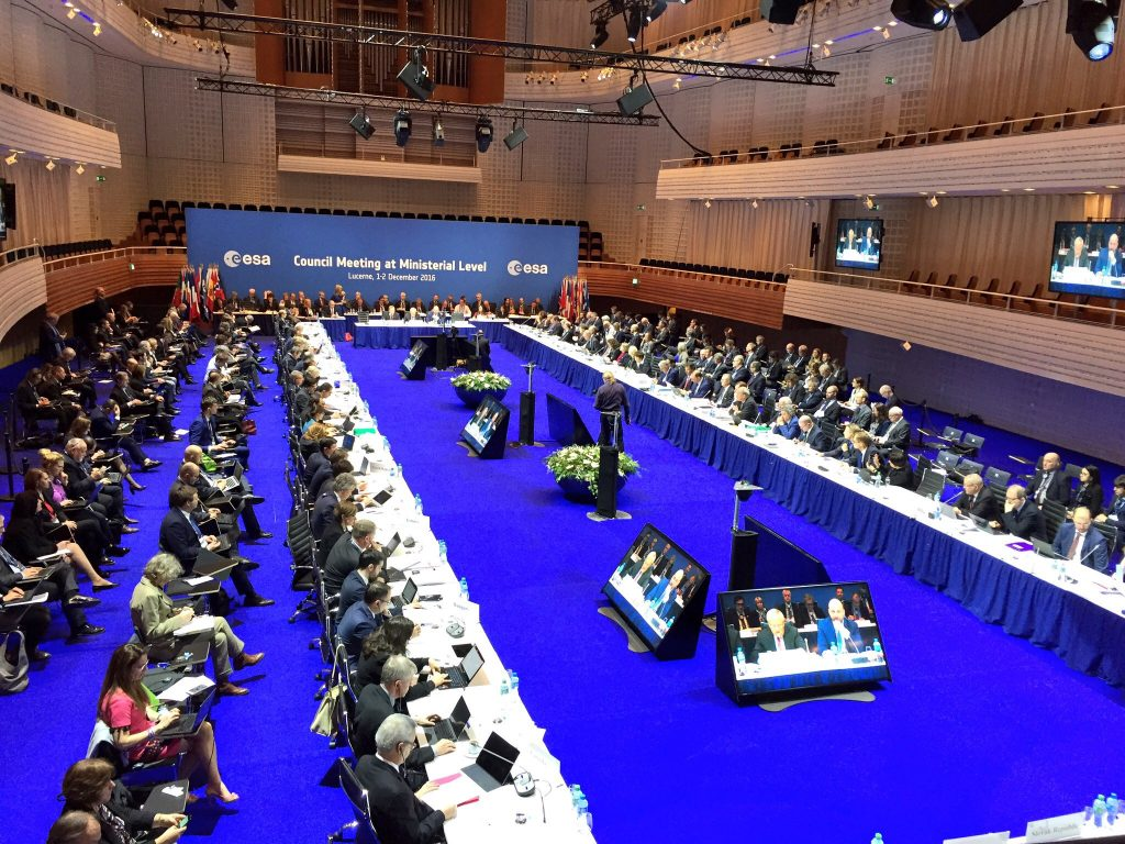 ESA Council at ministerial level in Lucerne, Switzerland, 1-2 December 2016. Credit: ESA, C. Diener.