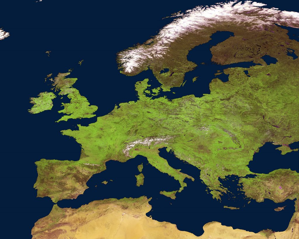 Springtime in Europe, as seen by ESA's Proba-V satellite.