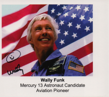 Wally Funk autograph card, courtesy: herself.