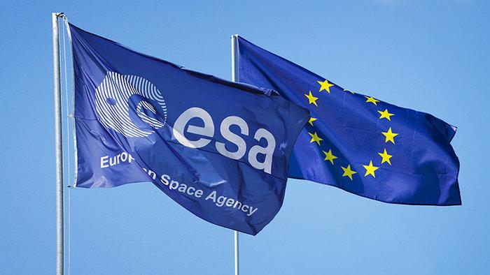 Flags ESA and EU