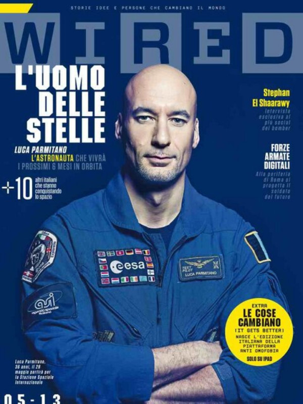 Luca on Wired magazine cover | Luca Parmitano