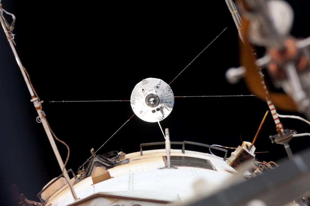 ATV-4 approaching the International Space Station