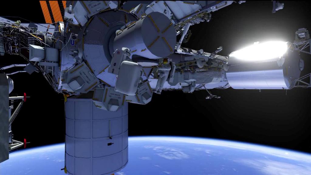 a 70 kg astronaut in space walking outside - photo #19