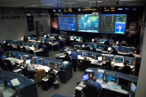 Mission Control, Houston. Credits NASA
