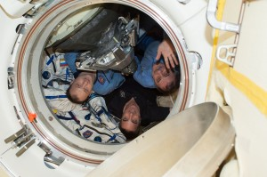 Expedition 36 leaving Credits NASA