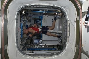 On the treadmill (T2) Credits ESA/NASA