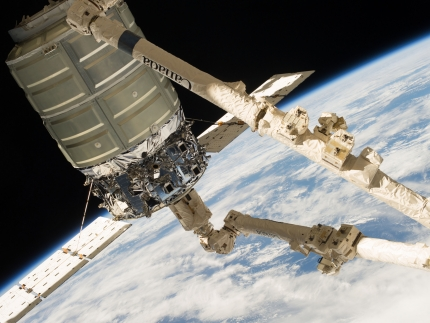 Cygnus on Canadarm2
