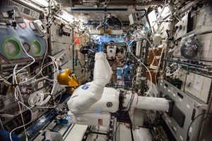 Robonaut working in the Destiny Lab Credits: NASA