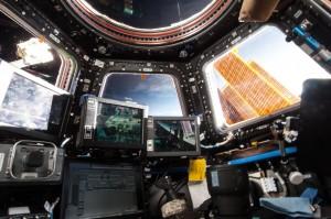 Cupola and the robotics workstation. Credits: NASA