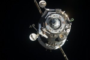 The Soyuz TMA-09M spacecraft departs from the International Space Station. Credits: NASA
