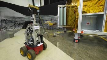 Surveyor rover at ESA's technical heart ESTEC in The Netherlands. Credits: ESA–J. Harrod CC BY SA IGO 3.0