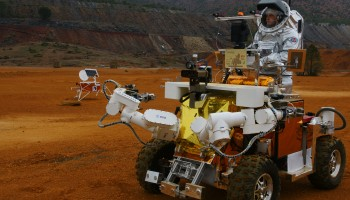 Eurobot during 2011 simulated Mars mission. Credits: ESA