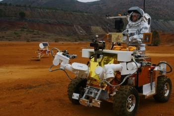 Eurobot during 2011 simulated Mars mission. Credits: ESA/ÖWF–P. Santek