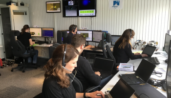 ESOC network control: team at work during simulation training on 27 April for the live astronaut control phase on 29 April. Credit: ESA