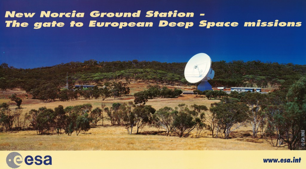 ESA's 35m station at New Norcia, Australia, will track NASA's MSL arrival at Mars. Credit: ESA