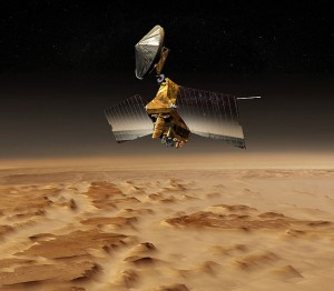 Artist's concept of the Mars Reconnaissance Orbiter. Image credit: NASA/JPL