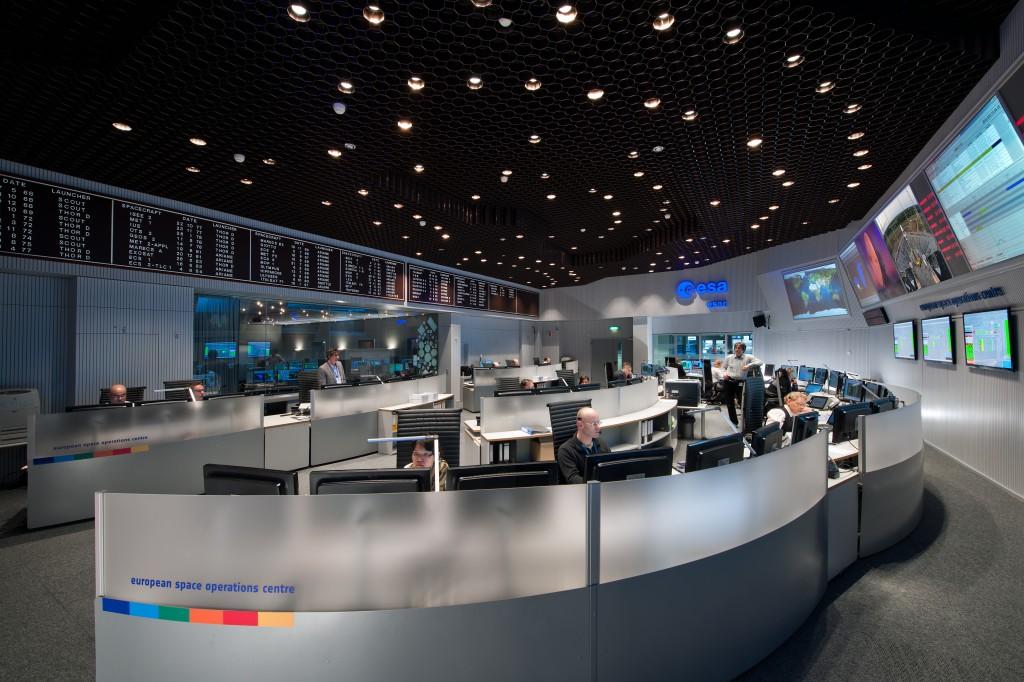 ESA ESOC Main Control Room Credit: ESA/J. Mai