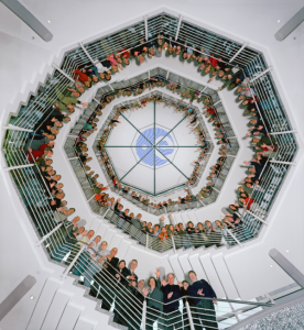 Rotunda staircase at ESOC. Yelling is normally not permitted. Credit: ESA/J. Mai