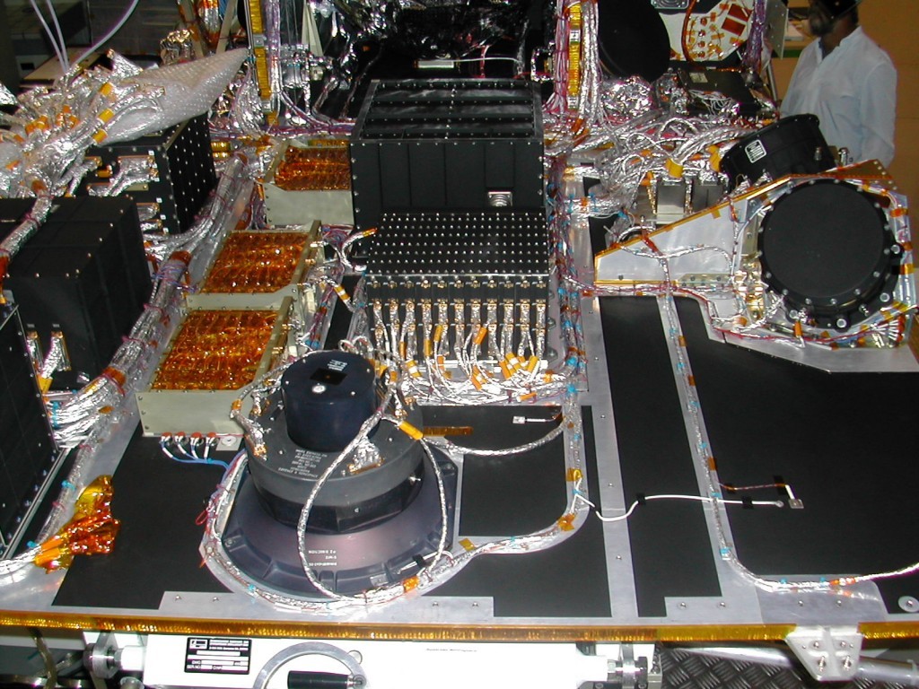 Interior view of Mars Express, seen during construction. Credit: ESA/Astrium