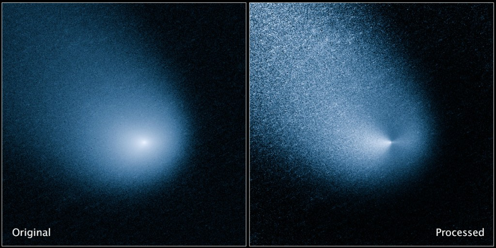 Comet Siding Spring imaged by ESA/NASA Hubble. Credit: NASA, ESA, and J.-Y. Li (Planetary Science Institute)
