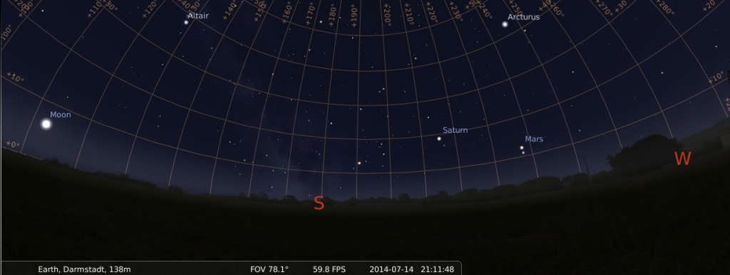 17 July: Mars and Spica getting really close