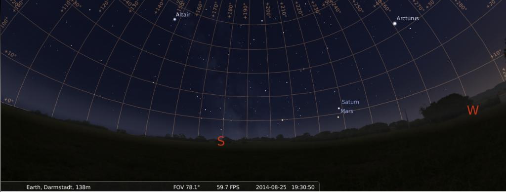 25 August: Saturn meets Mars