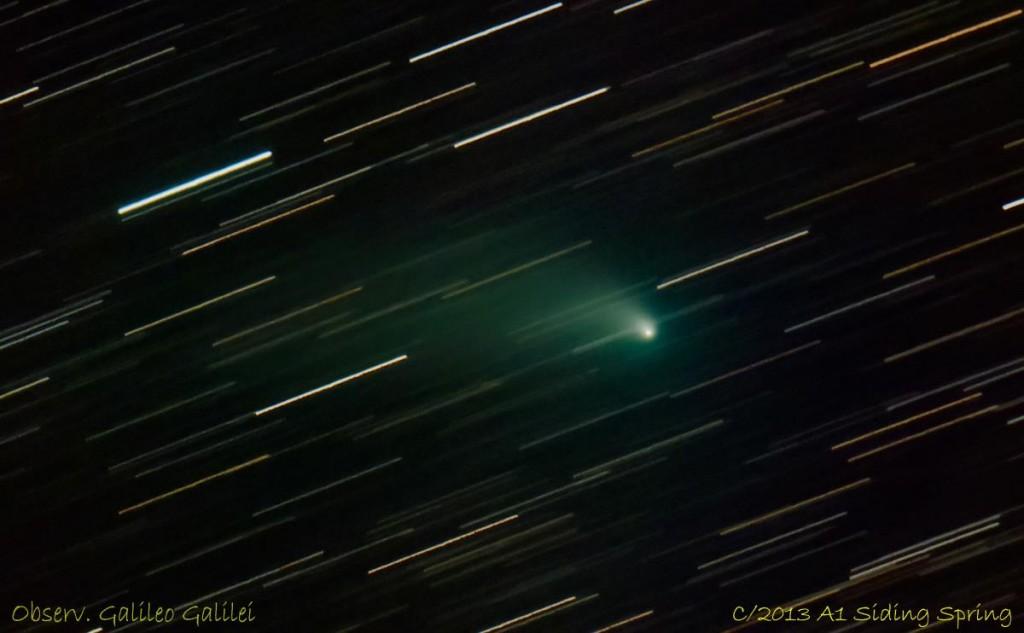Comet C/2013 A1 Siding Spring seen on 6 September 2014 from Argentina. Image credit: César Nicolás Fornari https://www.facebook.com/cesar.fornari
