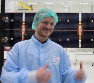 Julien with ATV-5 solar panels
