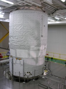 ATV with most of the protections removed. Credits: ESA/C Beskow