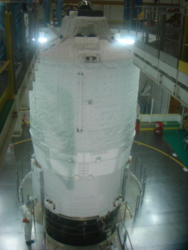 Last view of ATV-2 before encapsulation