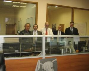 ESA team at Moscow's MCC-M (TsUP) for ATV-2 docking: P. Amadieu, D. Paris, M. Cislaghi, S. Souvorov & J. Ebi